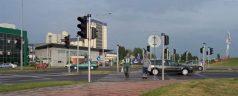 One crossroads – 16 traffic light!